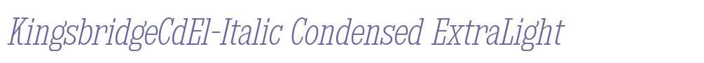 KingsbridgeCdEl-Italic
