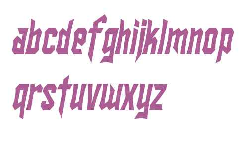 SF Ironsides Condensed Italic V1 V2