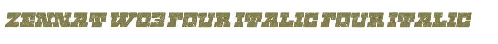 Zennat W03 Four Italic