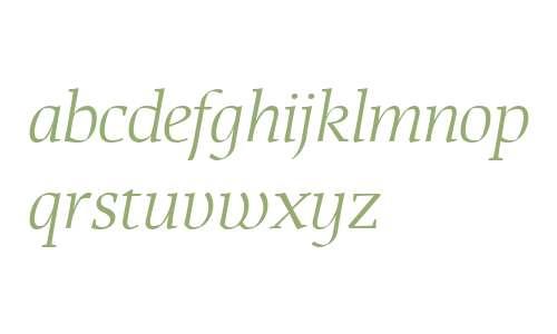 That W01 Light Italic