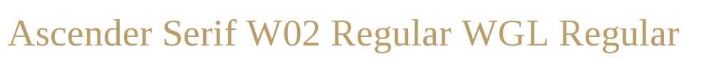 Ascender Serif W02 Regular