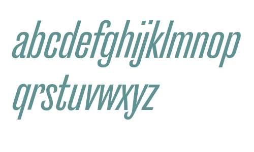 Caslon Doric Cond Medium Italic