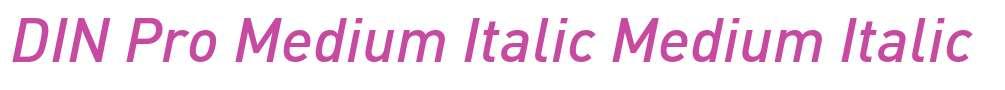 DIN Pro Medium Italic
