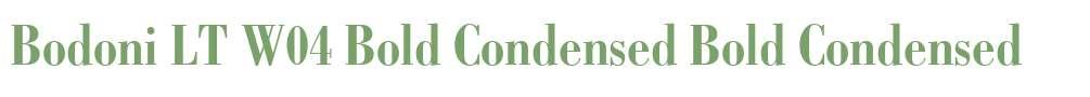 Bodoni LT W04 Bold Condensed