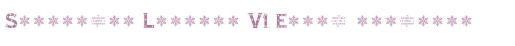 Snowflake Letters V1