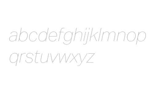 Aktiv Grotesk W04 Hairline It