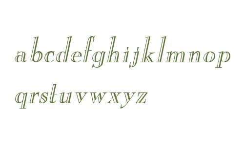 New England Engraved Italic