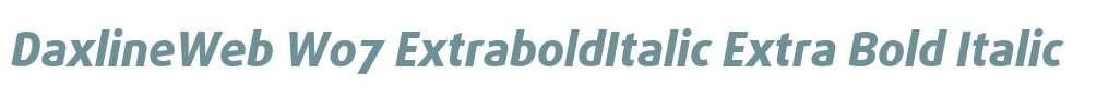 DaxlineWeb W07 ExtraboldItalic