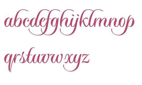 Sloop Script Two Upright