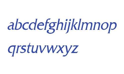 Franco Condensed Italic