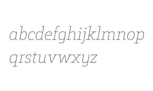 Decour Soft W00 Thin Italic