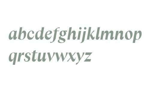 Columbia Sans W Display Bold Italic