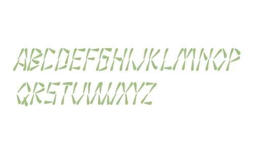 SF Wasabi Condensed Italic V2 V1