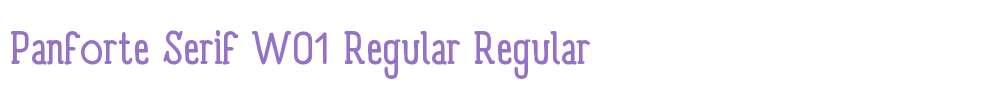 Panforte Serif W01 Regular