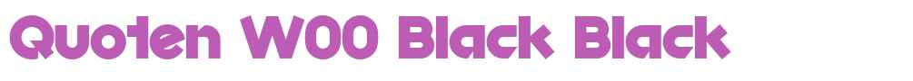 Quoten W00 Black
