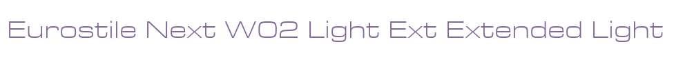 Eurostile Next W02 Light Ext