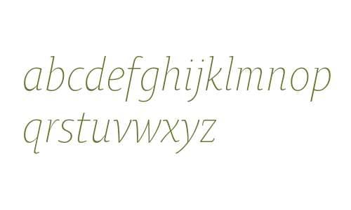 OksanaTextNarrowLight-Italic