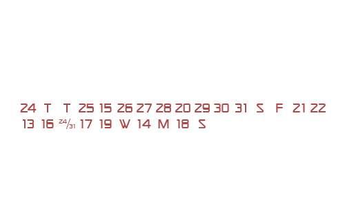 CalendarFont W95 One