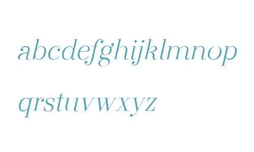 Otama Display W00 Light Italic