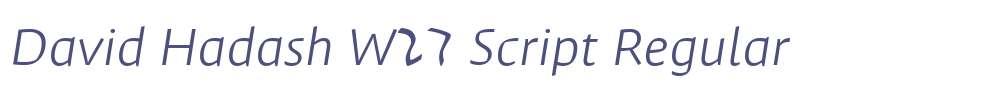 David Hadash W27 Script