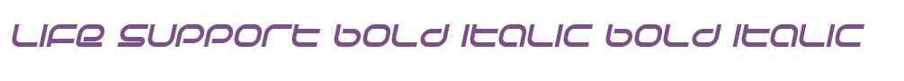 Life Support Bold Italic