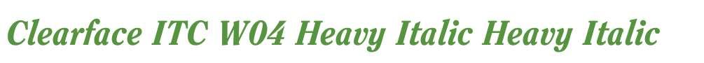 Clearface ITC W04 Heavy Italic