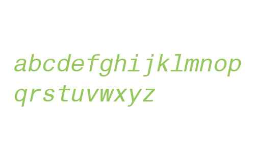 Helvetica Monospaced W06 Italic