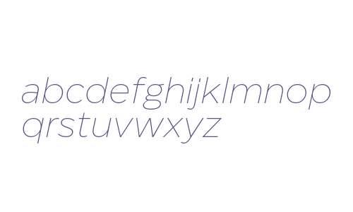 Eastman Trial Extralight Italic