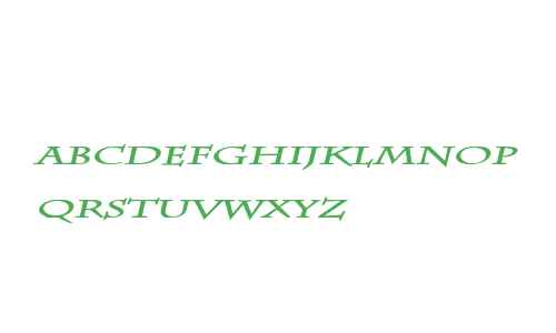 Chaz Extended Bold Italic