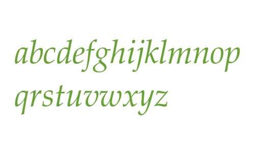 Zapf Calligraphic 801 Italic