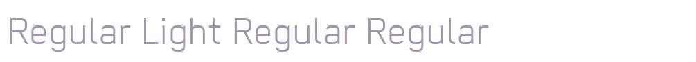 Regular Light Regular