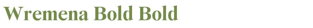Wremena Bold