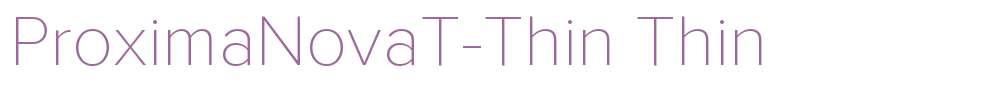 ProximaNovaT-Thin