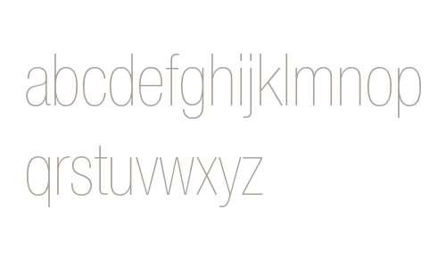 Helvetica Neue LT W0627UltLtCn