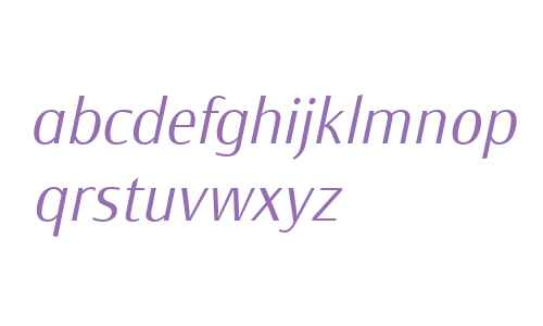 Monem W01 Extra Light Italic