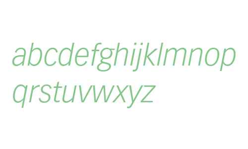 Vectora LT Std 46 Light Italic