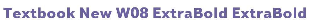 Textbook New W08 ExtraBold