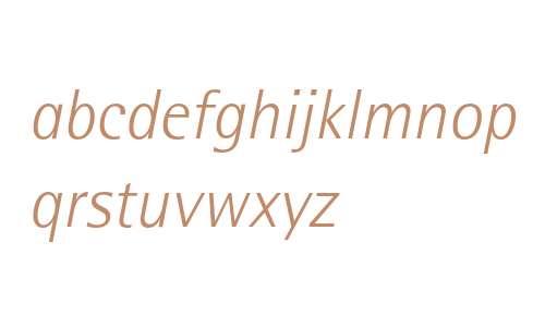 Rotis SemiSans Light Italic 46