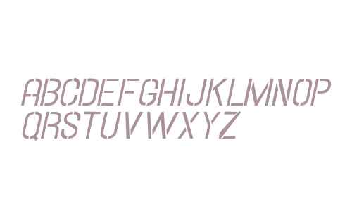 Hallandale Stencil Italic JL