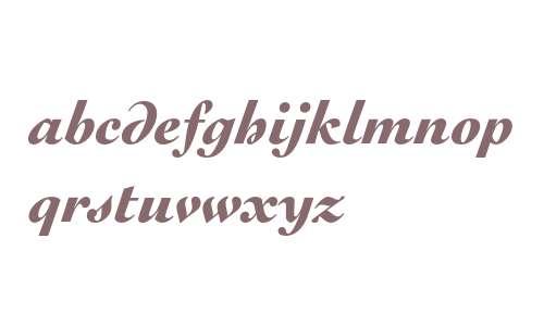 Engravers' Oldstyle 205 Black Italic