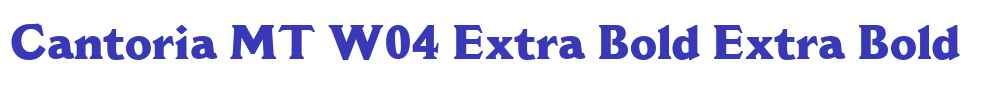 Cantoria MT W04 Extra Bold