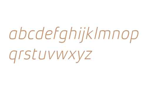 Xenois Sans W04 Light Italic