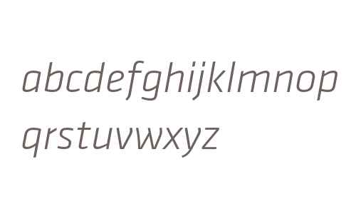 Klavika Light Italic