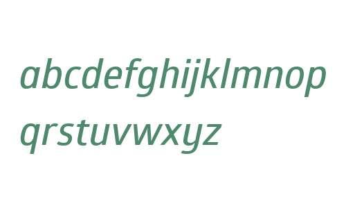Glober W01 SemiBold Italic