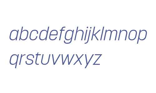 Korolev W04 Light Italic