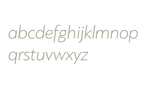 PF Bague Sans W01 Thin Italic