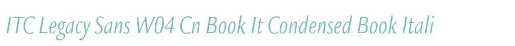ITC Legacy Sans W04 Cn Book It