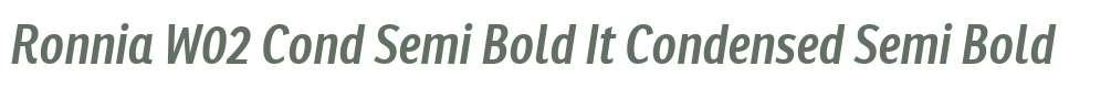 Ronnia W02 Cond Semi Bold It