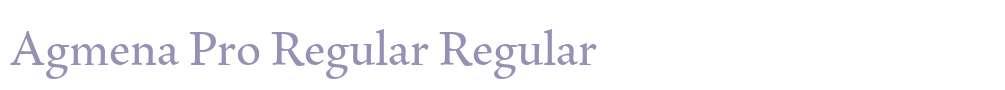 Agmena Pro Regular