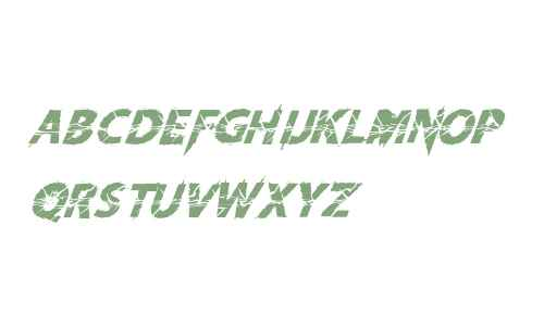 Knife Fight Ballet Italic
